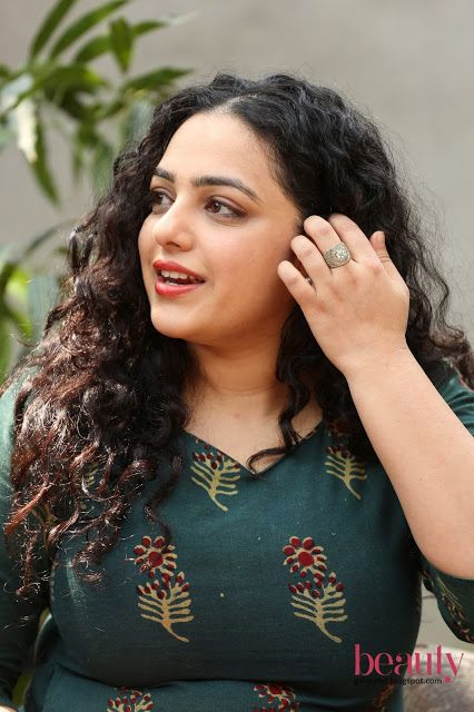 "Beauty Galore HD : Nithya Menon ""A Beauty In Curly Hair"" Looking Imme..."