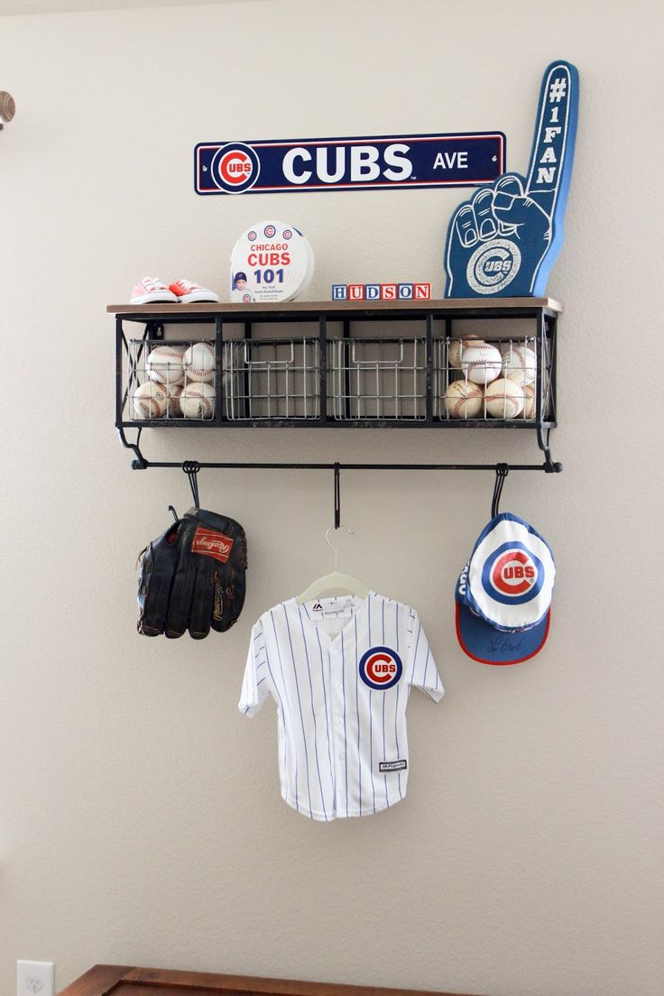 When I Began Envisioning Hudsons Nursery Had So Many Ideas Knew Wanted To Do A Vintage Baseball Theme Because Kyle Is Huge Cubs F