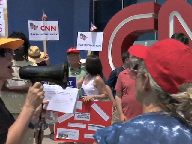 "Protesters stormed the CNN Center in Atlanta, Georgia chanting ""No more fake news!"" at the network's headquarters."