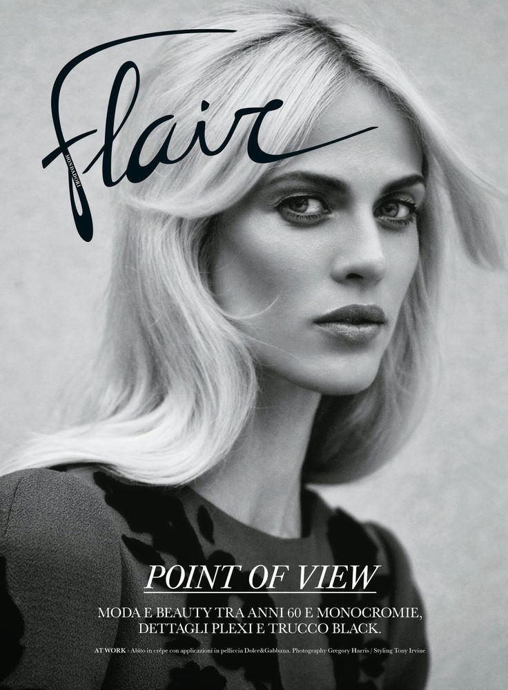 Aymeline Valade photographed by Gregory Harris for the cover of Flair Italy