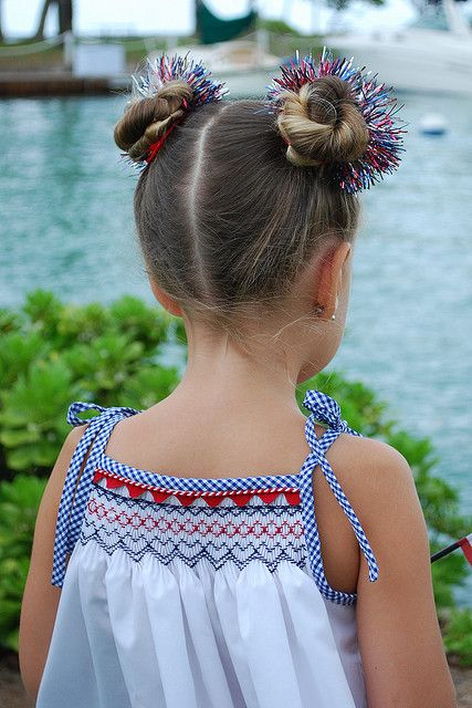Could also be done without smocking, just gathers and beautiful trims. Love the hair too!