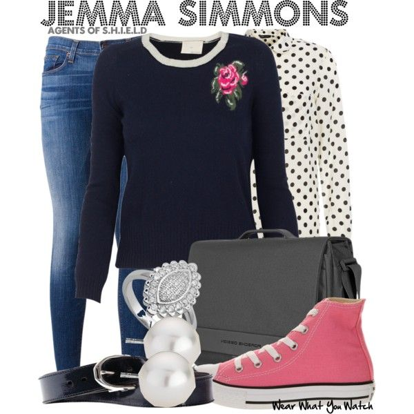 """""""Jemma Simmons (Agents of S.H.I.E.L.D)"""" by wearwhatyouwatch on Polyvore"""
