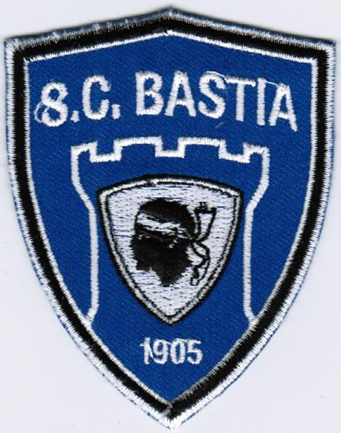 Ligue 1 SC Sporting Club de Bastia Football Soccer Iron On Embroidered Patch