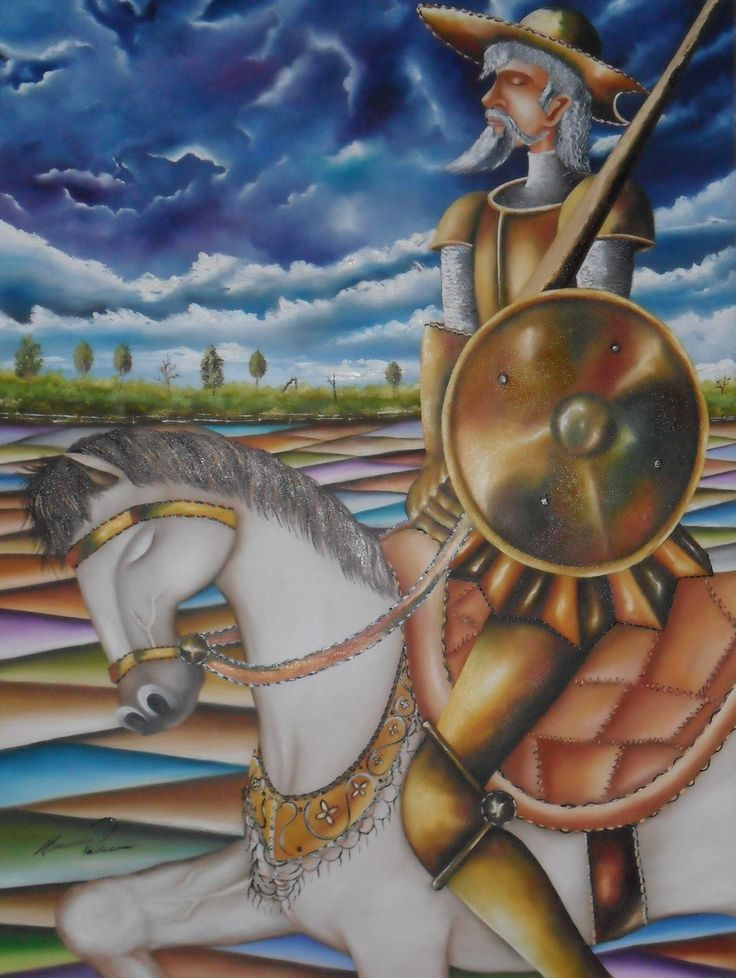 Dom Quixote 60 x 80 cm OST Alexander Pacheco.