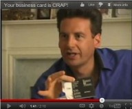 Your business card is CRAP!    He is not shy at all.    #business #business card