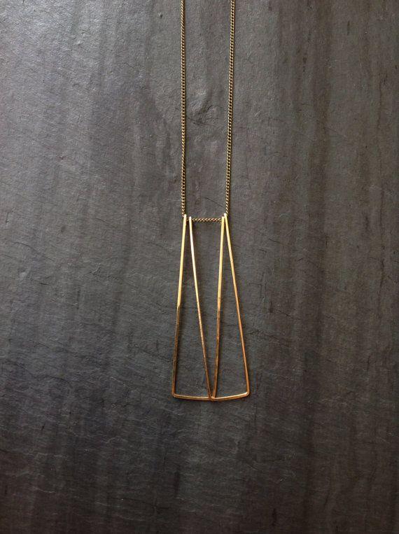 Goldfill geometrische ketting deuren lus sieraden Sterling