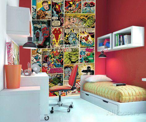 Marvel Comics Wallpaper Mural Wallpaper Mural at AllPosters.com $39.99?!