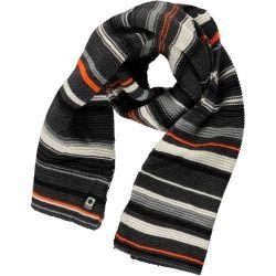 Grijs/zwart/wit gestreepte sjaal met oranje detail Tumble 'n Dry  @monkeyandbutterfly.be