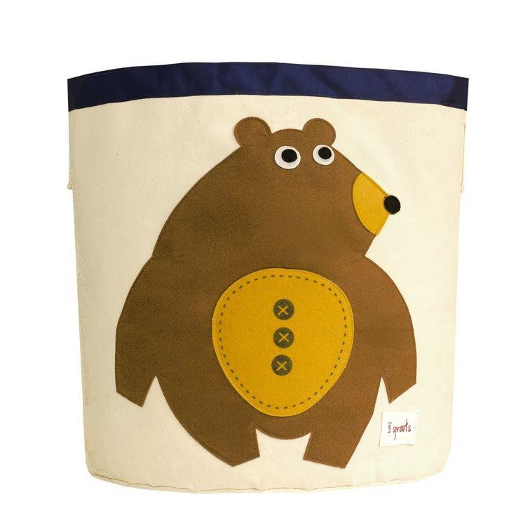 3 Sprouts Canvas Storage Bin Bear