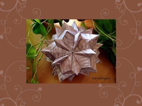 Origami ♥ Luminescence ♥ Kusudama - YouTube