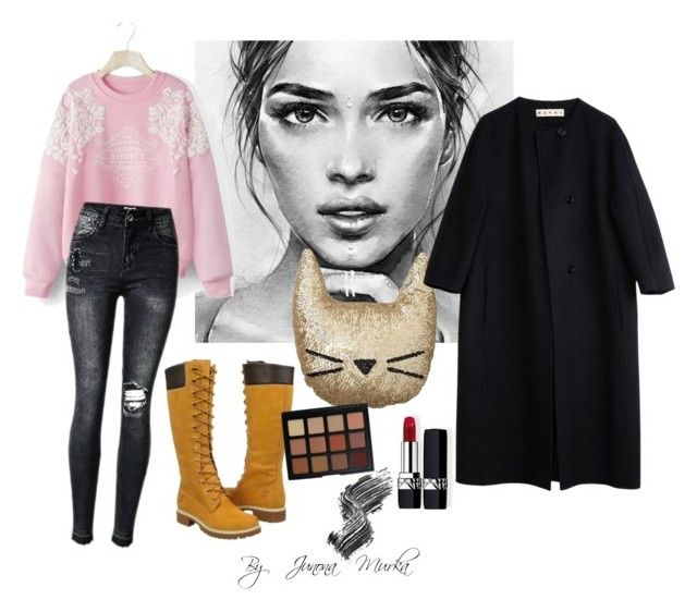 """""""🚀"""" by murka-juna on Polyvore featuring Timberland, PBteen, Marni, WithChic, Morphe, Christian Dior and Illamasqua"""