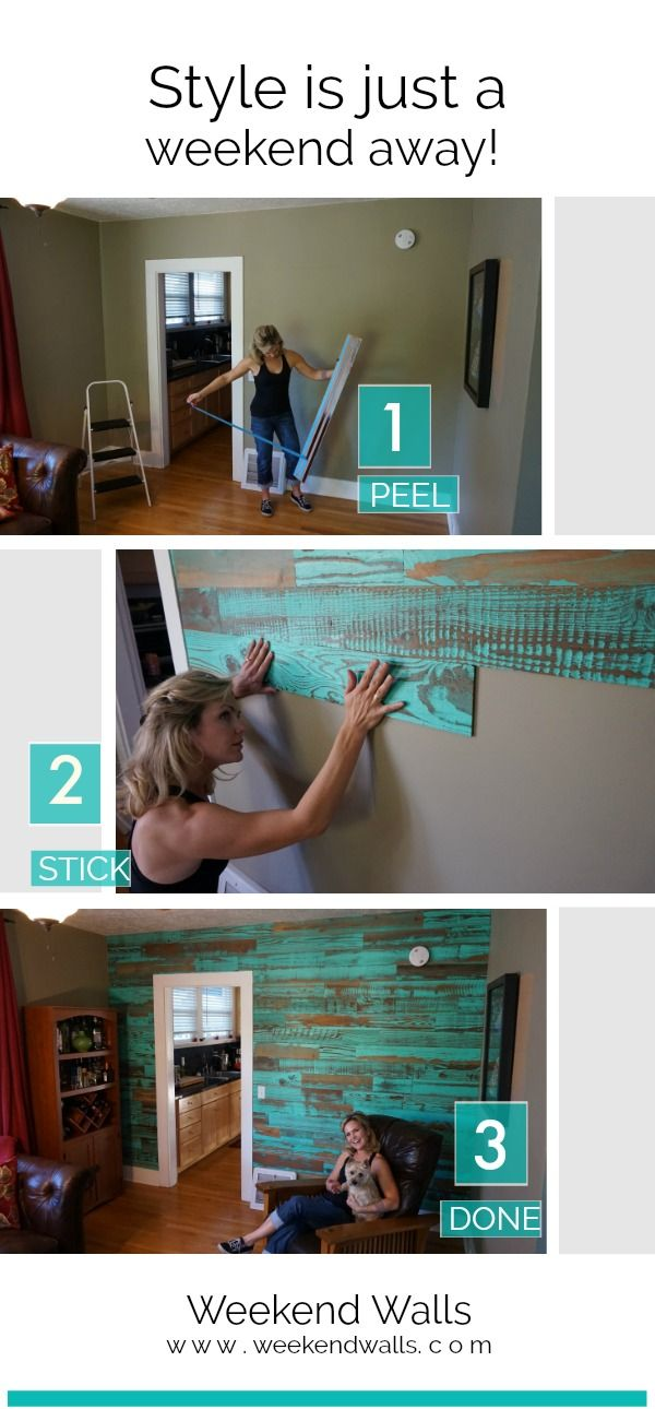Reclaimed Wood Peel And Stick Panels In Blue Stick On Wood Wall