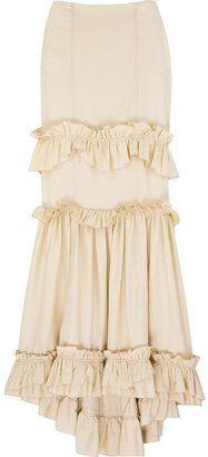 Omg I want it!!!!!!! Creme ruffled maxi skirt - LOVE! Elegant & classy ... Apostolic pentecostal swa/style