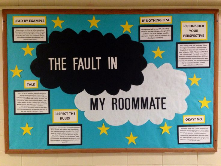 The Fault in my Roommate bulletin board ⭐️                                                                                                                                                                                 More