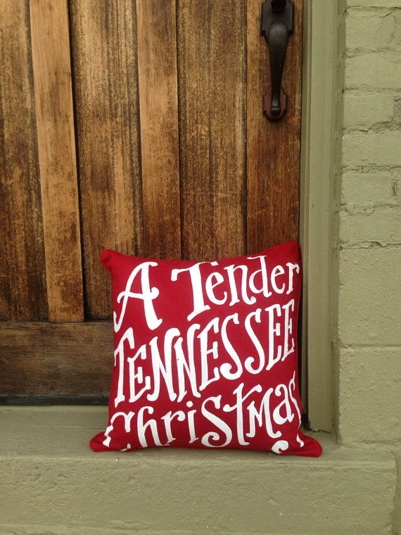 Tender Tennessee Christmas  red pillow by kijsa on Etsy, $38.00