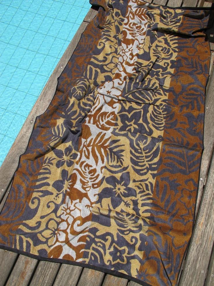 Floral Stripe Beach Towel - pennie.gr