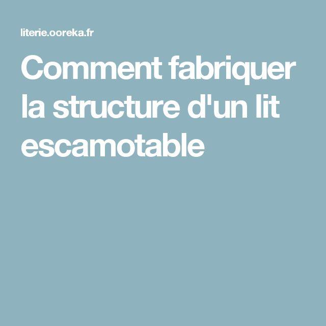 1000 id es sur le th me lits escamotables sur pinterest lits escamotables - Structure lit escamotable ...