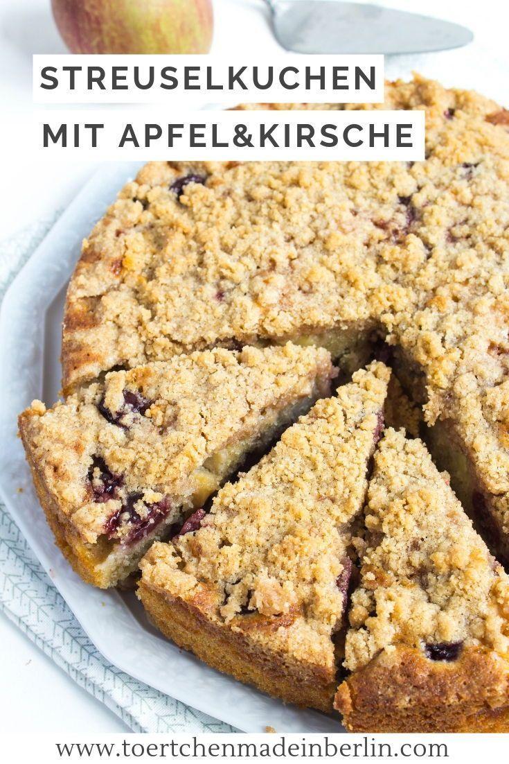 Kirsch Apfel Streuselkuchen Streuselkuchen Streuselkuchen Mit Kirschen Und Apfel Zum Backen