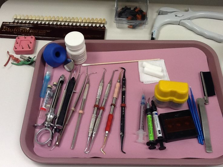 Composite tray. (White filling). #dental #dentalassisting #rossmedical