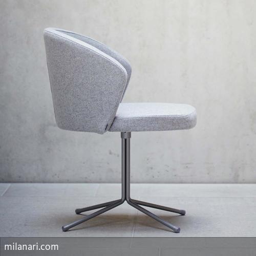"""Abgedreht? Nein! Innovativ und stylish zeigt sich der Drehstuhl """"Mila"""" von jan kurtz. Sein außergewöhnliches Design macht den Stuhl mit Filzbezug zu einem…"""