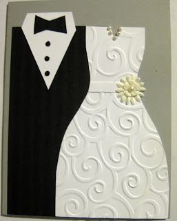 Bride Dress Template Sybee Stamps Tuxedo And Wedding Card Cards Pinterest