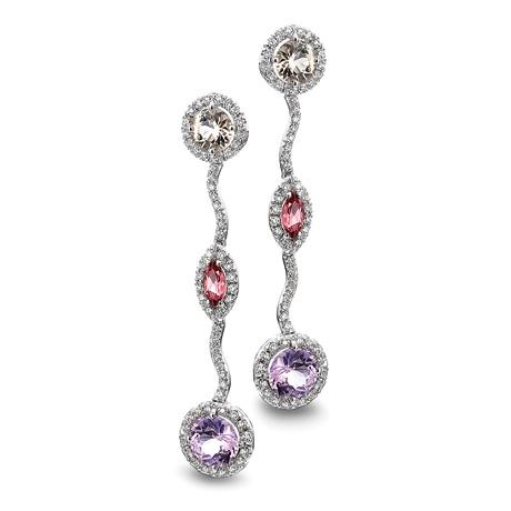 Platinum drop #earrings by Peter Norman