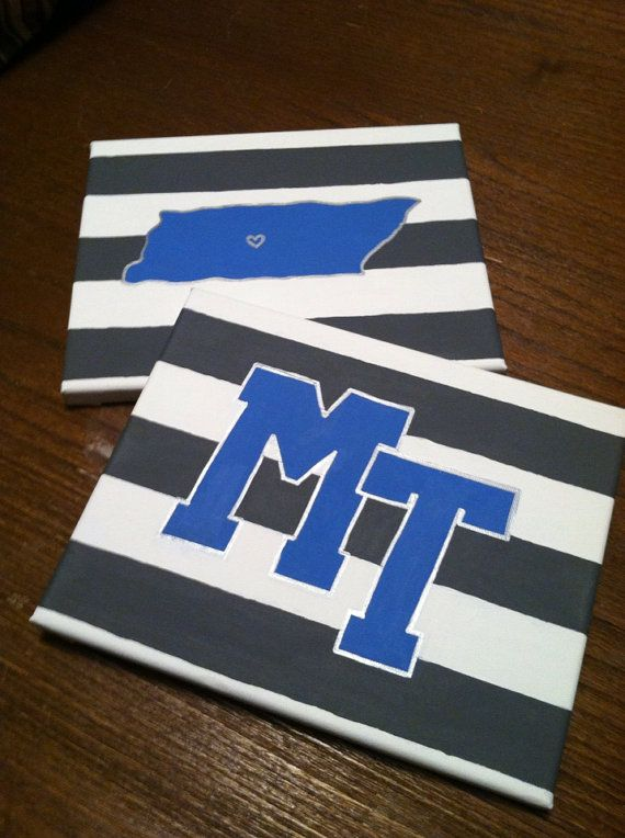 Middle Tennessee University Canvases on Etsy, $25.00