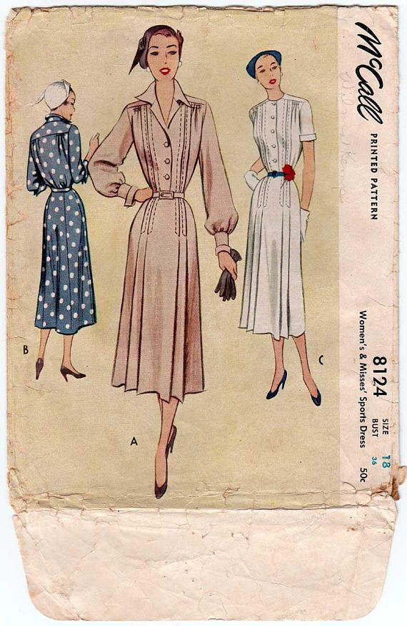 8470e2e3ef Women s 50 s Style Sports Dress Sewing Pattern Misses