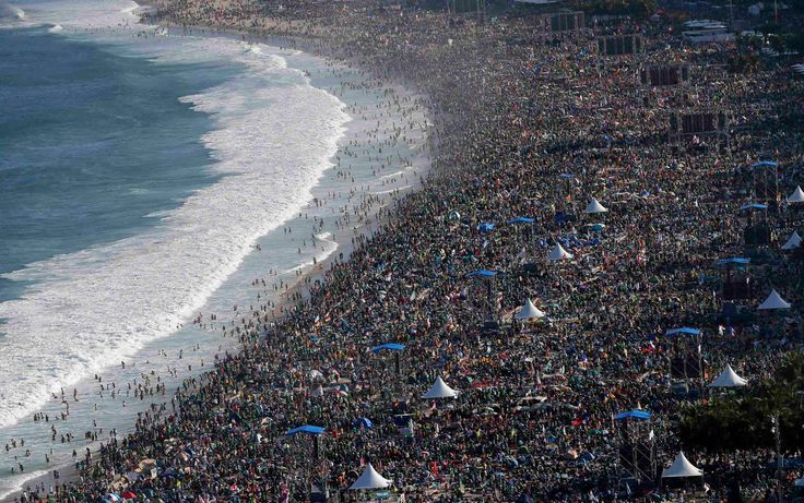 Image result for crowded beach in brazil