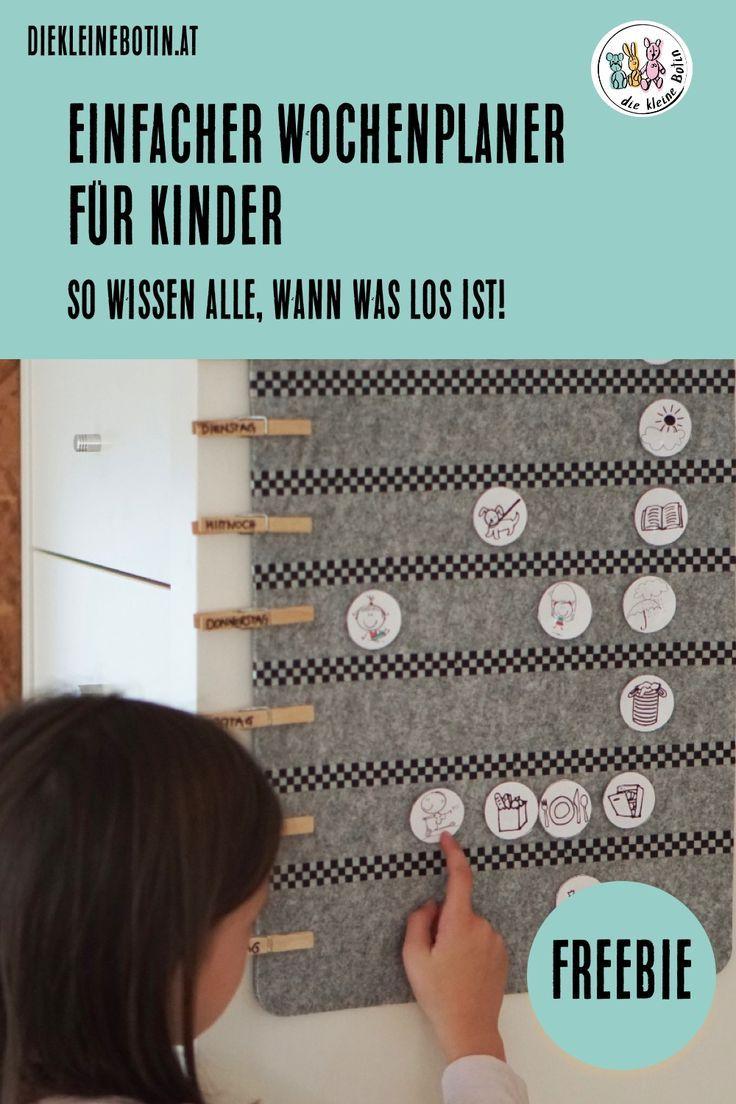 DIY-Wochenplaner für Kinder