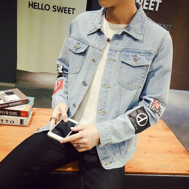 Jaqueta Jeans Masculina G-Dragon