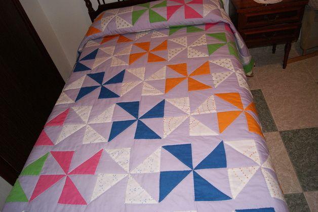 colchas, edredones en patchwork | COLCHA DE CAMA PATCHWORK