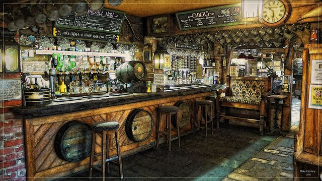 Old English Pub Interior by Mike Cordey, via Flickr