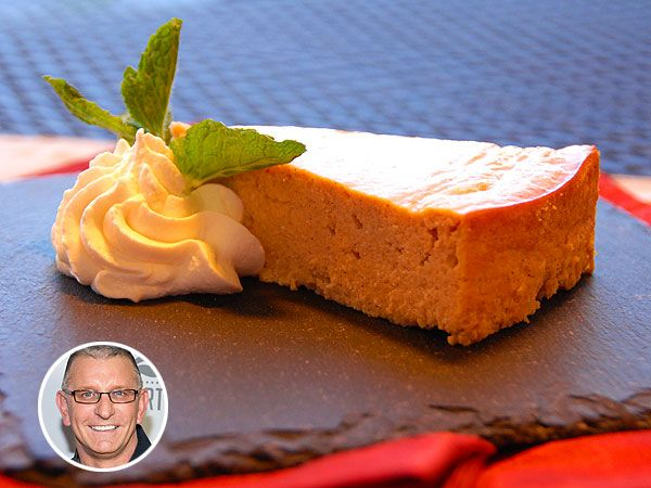 Robert Irvine's cheesecake uses ricotta instead of cream cheese to slash fat and calories