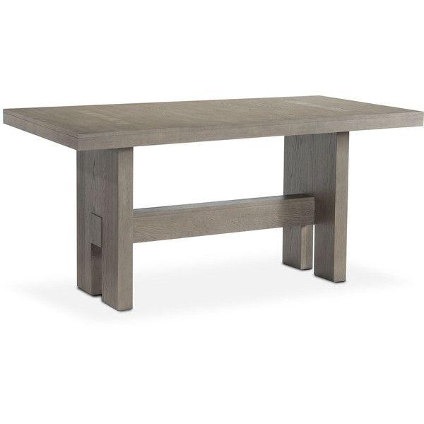 Malibu Rectangular Counter Height Wood Top Table Gray ($560) ❤ Liked On  Polyvore