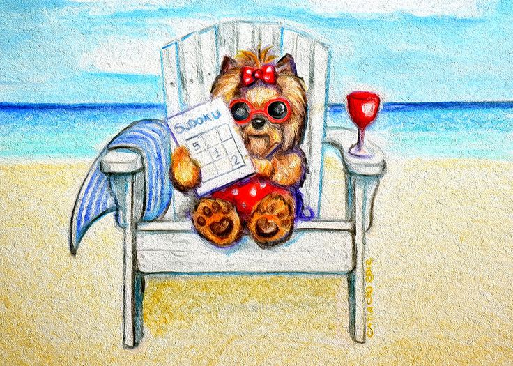 Sudoku at the beach Mixed Media by Catia Cho - Sudoku at the beach Fine Art Prints and Posters for Sale