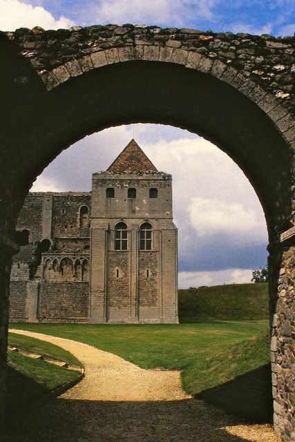 Castle Rising in Norfolk, England built in the 12th century by William d'Albini, Earl of Sussex, who married Adeliza, widow of Henry I