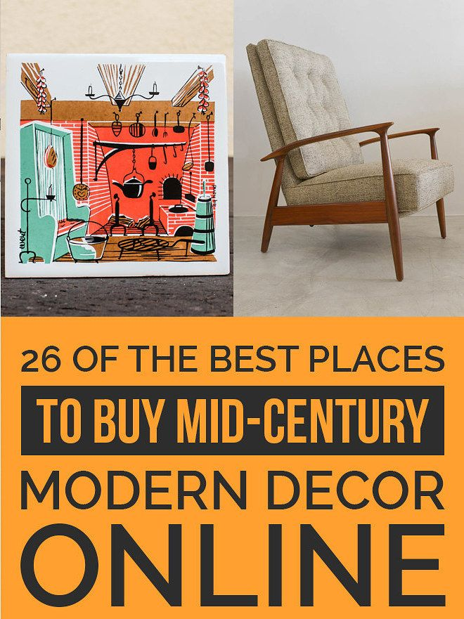 26 of the best places to buy mid century modern decor online - Mid Century Decor