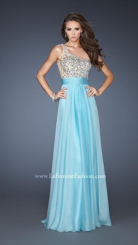 { 18646 | La Femme Fashion 2013 } La Femme Prom Dresses - Sparkle - One Shoulder - Long Dress