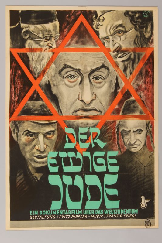 Der Ewige Jude (The Eternal Jew) antisemitic film poster - Collections - United States Holocaust Memorial Museum.  From Germany 1940 World War Two