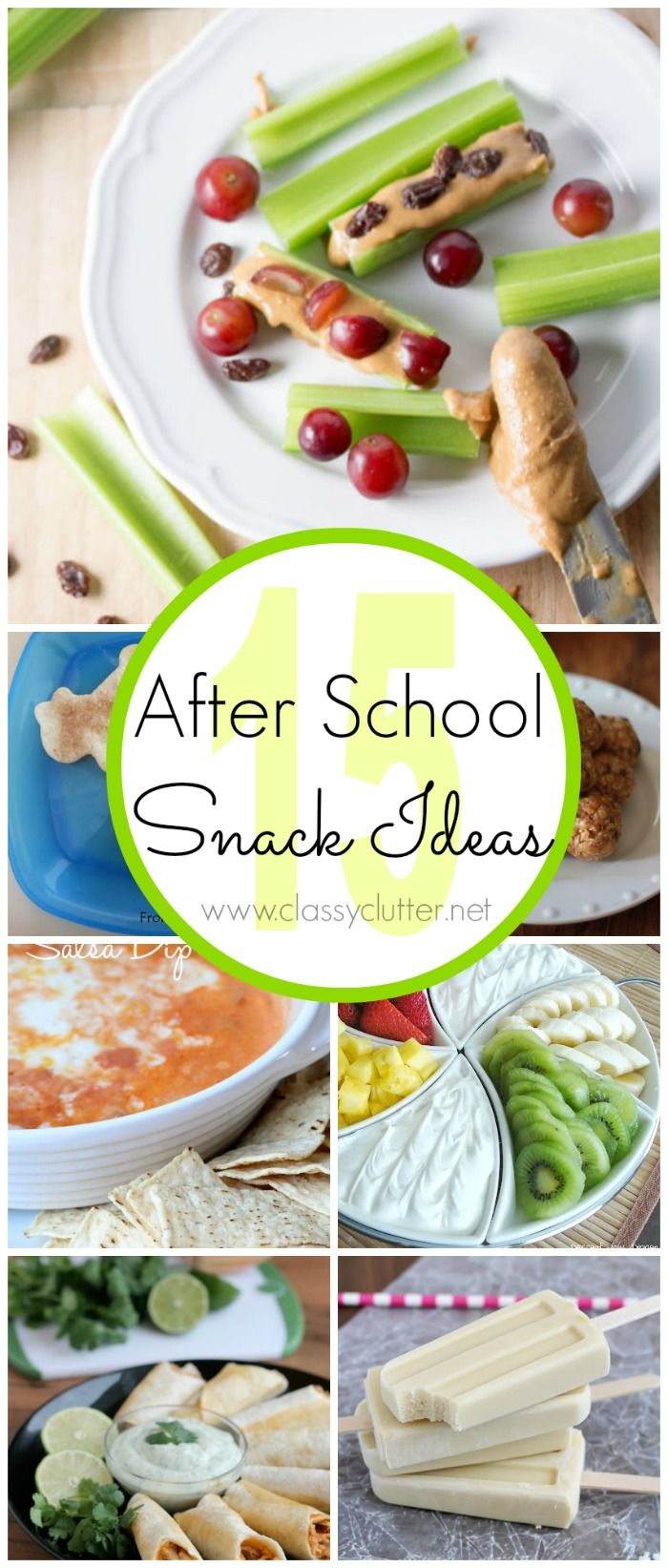 15 After School Snack Ideas - www.classyclutter.net
