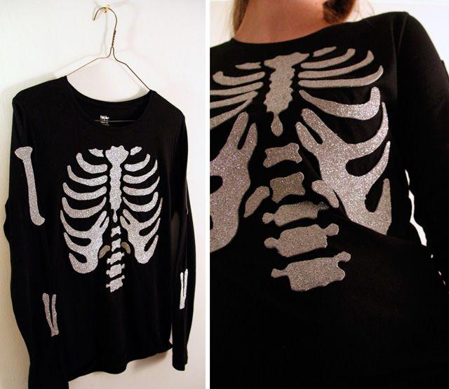 Halloween Crafts - DIY Two Glitter Skeleton Shirt Tutorials. Top... Please visit our website @ www.steampunkvapemod.com