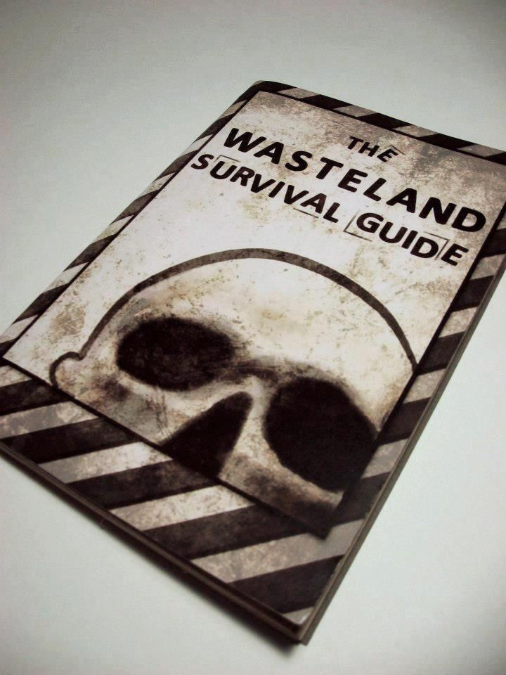 The Wasteland Survival Guide. Prop book and journal based off of Fallout 3 and New Vegas. It is available for $20 on Angry Robots Cosplay's Etsy shop.
