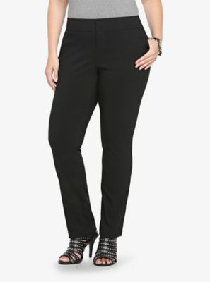 These are a nice quality pant from TORRID.  Noir Collection Jetsetter Pant - Straight Trouser (Tall)
