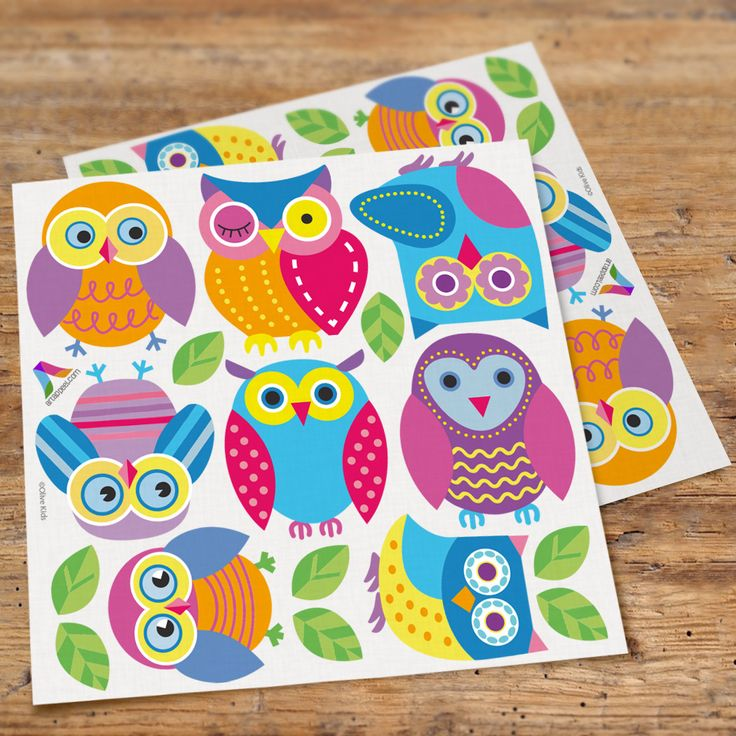 Owls Peel & Stick Wall Decal Cutouts by Olive Kids