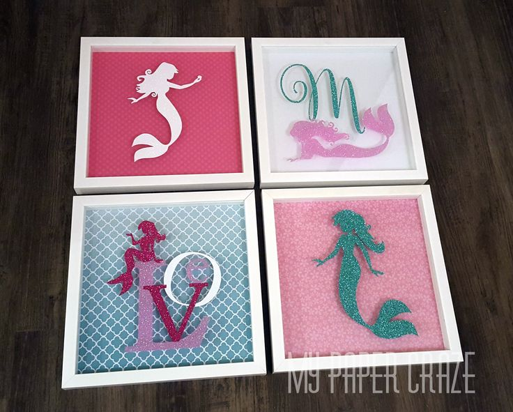 Mermaid Shadow Boxes by My Paper Craze