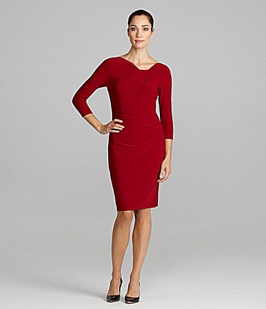 Christmas party evan picone ruched jersey dress dillards