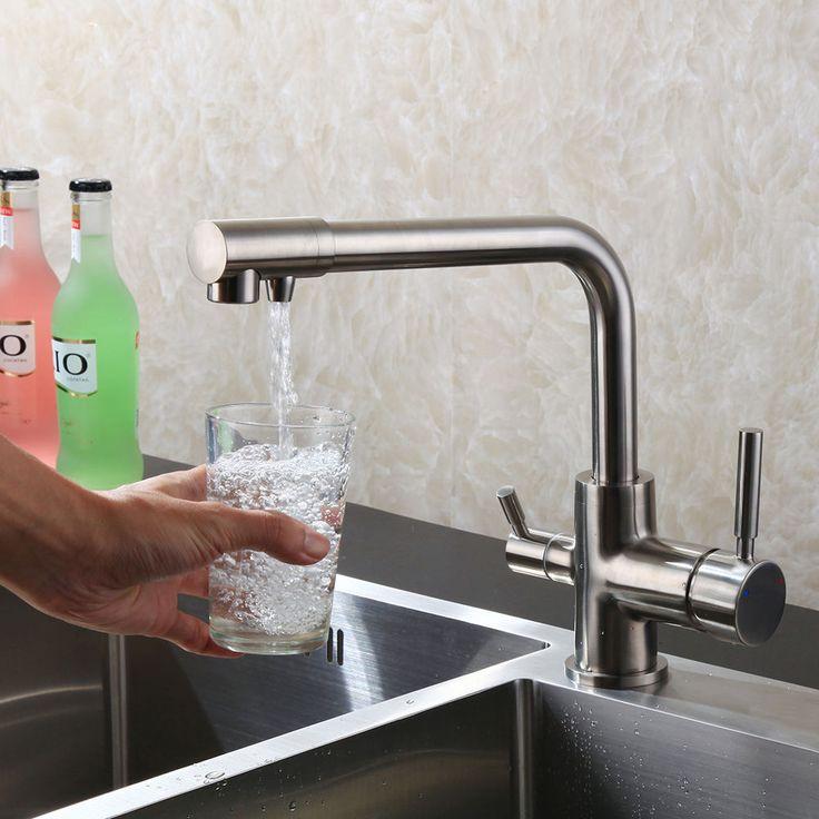Küchenarmatur für Osmose Anlage System Wasserfilter 3 Wege Armatur Wasserhahn