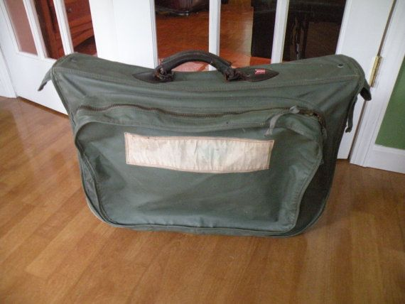 WWII Flyer's suit case old suitcase miltary  by Traincasesandmore
