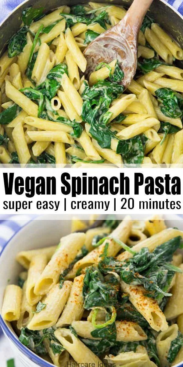 Vegan Spinach Pasta Delicious Easy Pasta Recipes